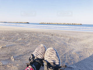 足元には広がる海が・・・の写真・画像素材[2091626]