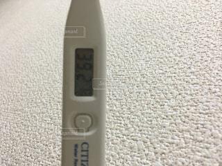 39.2℃ 体温計の写真・画像素材[1751849]