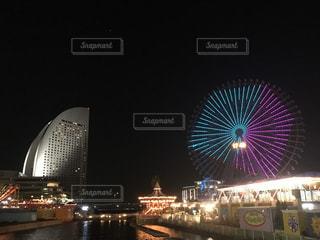 横浜の夜景 キューブの写真・画像素材[1746747]