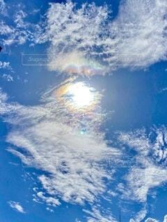 彩雲の朝の写真・画像素材[3690236]