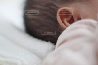 赤ちゃんの耳のクローズアップの写真・画像素材[1742676]