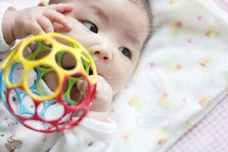 オーボールのおもちゃで遊ぶ赤ちゃんの写真・画像素材[1742877]