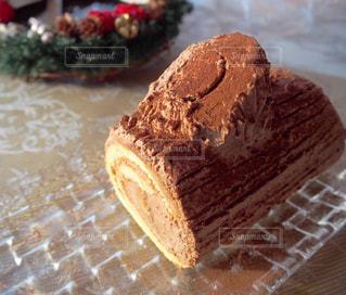 ブッシュドノエル ロールケーキの写真・画像素材[1743684]