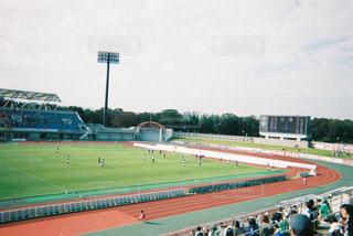 サッカーの試合の写真・画像素材[1744276]