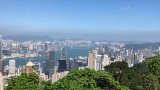 香港の街並みを山上からの写真・画像素材[1745220]