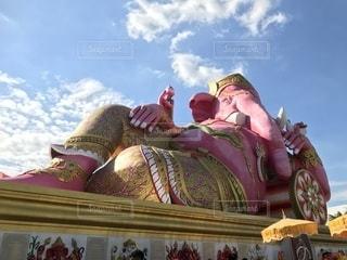 【タイ】ピンクのゾウの写真・画像素材[1746922]
