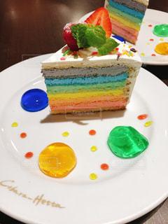 レインボーケーキの写真・画像素材[1746433]