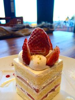 苺のショートケーキの写真・画像素材[801835]