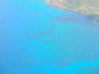 飛行機から見たハワイの海の写真・画像素材[1826980]