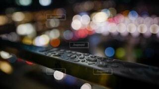 水滴と玉ボケの写真・画像素材[4160951]