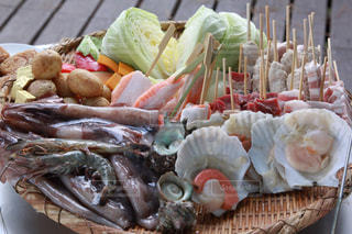初島で食べた海鮮BBQの写真・画像素材[2587645]