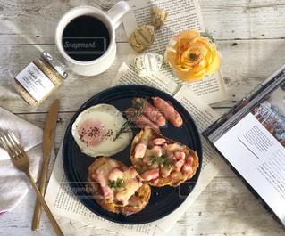 とある日の朝食の写真・画像素材[1805615]