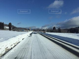 雪道の写真・画像素材[1793803]