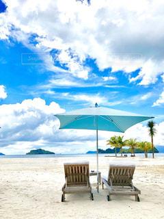 プライベートビーチの写真・画像素材[1754926]
