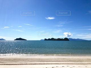 砂浜からの眺めの写真・画像素材[1755702]
