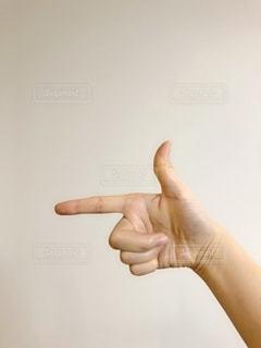 ポーズした手のアップの写真・画像素材[1834346]