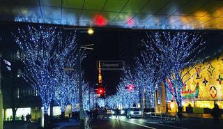 東京タワーと煌めくイルミネーションの写真・画像素材[1756238]