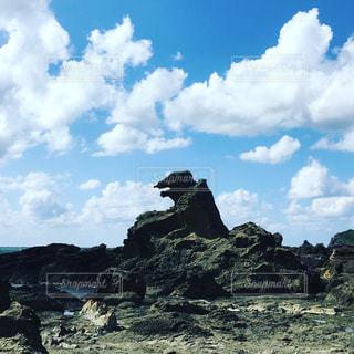 ゴジラ岩の写真・画像素材[1756730]