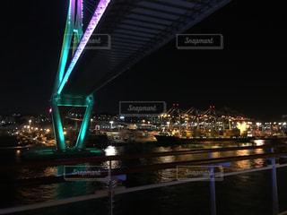 釜山港 夜の写真・画像素材[1758120]