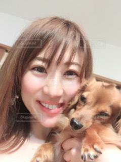 愛犬と一緒にの写真・画像素材[2097701]
