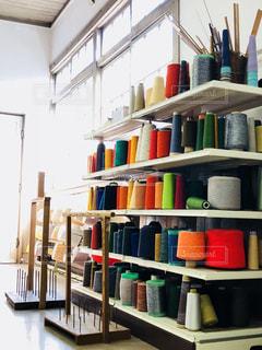 織物工房の糸の写真・画像素材[1856170]