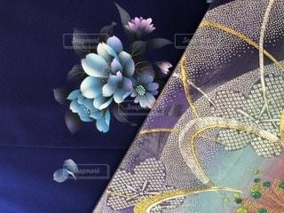 青い振袖と帯の写真・画像素材[1761762]