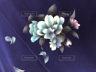 青い振袖の写真・画像素材[1761765]
