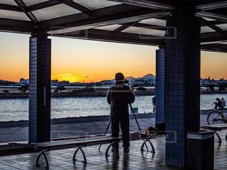 夕陽の写真・画像素材[3009445]