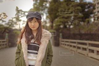 帽子をかぶった女性の写真・画像素材[3107746]