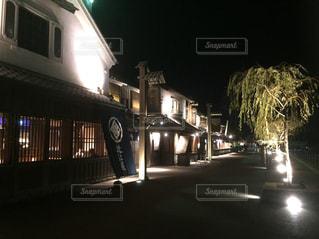 蔵造りの町並み ライトアップの写真・画像素材[1761713]