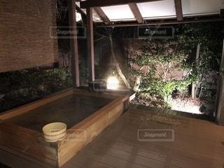 貸切露天風呂の写真・画像素材[1819339]
