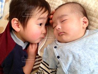 男の子と赤ちゃんの写真・画像素材[1763887]