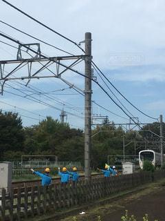線路整備士の安全確認の写真・画像素材[1761761]