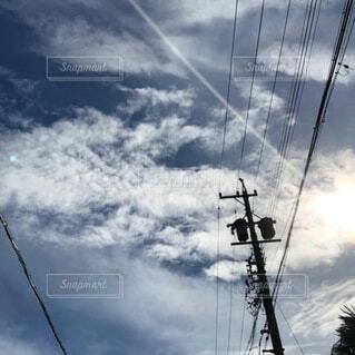空の雲の群の写真・画像素材[3679217]