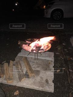 焚き火の写真・画像素材[1764328]