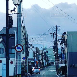 地方都市の通りの写真・画像素材[2653535]