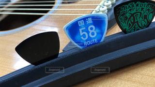 ギターのピックの写真・画像素材[2958850]