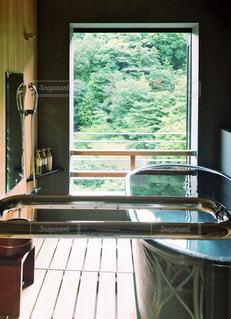 客室露天風呂の写真・画像素材[1769576]