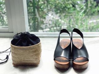 黒の靴のペアの写真・画像素材[1179779]
