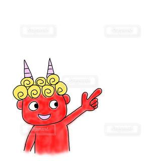 赤鬼のイラストの写真・画像素材[2895027]