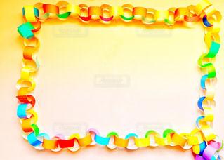 折り紙で作ったチェーンの写真・画像素材[3162130]