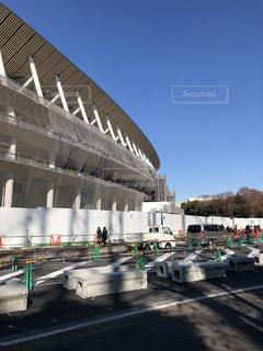 建築中のオリンピックスタジアムの写真・画像素材[1800736]