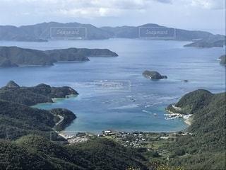 山と海と島の景色の写真・画像素材[1776418]