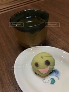 笑う和菓子の写真・画像素材[2173638]