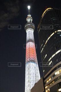 東京スカイツリー特別ライティングの写真・画像素材[2713795]