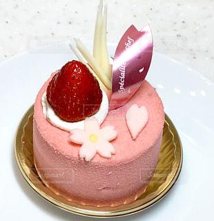 春色のケーキの写真・画像素材[1780774]
