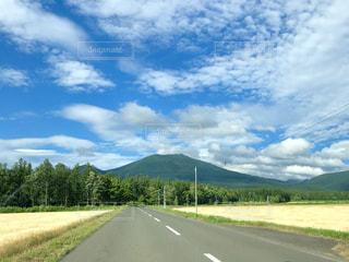 北海道を走行中助手席から望む風景の写真・画像素材[1783060]