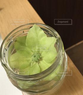 透明なガラスのビンに浮かせての写真・画像素材[1783546]