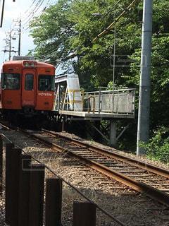 鋼のトラックの列車の写真・画像素材[722955]