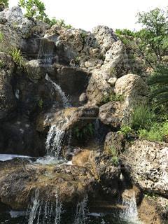 近くに大きな岩のアップの写真・画像素材[1781751]